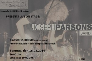 16.02.2014 JOSEPH PARSONS BAND live in concert !