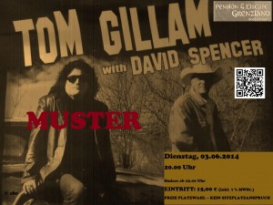 TOM GILLAM with DAVID SPENCER – die Tickets sind da !