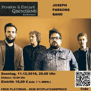 "11.12.2016 Joseph Parsons Band (""The Field The Forest""-Tour)"