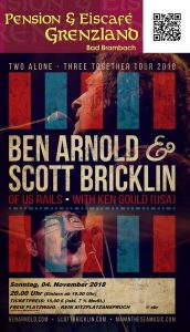 "04.11.2018 Ben Arnold & Scott Bricklin with Ken Gould (USA), ""Two alone – three together""- Tour 2018"